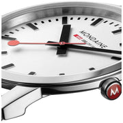 Mondaine Ultra Thin 36mm Simply Elegant White