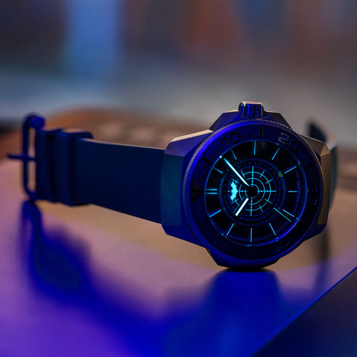 UNDONE Batman Quantum Automatic Black Limited Edition angled shot picture