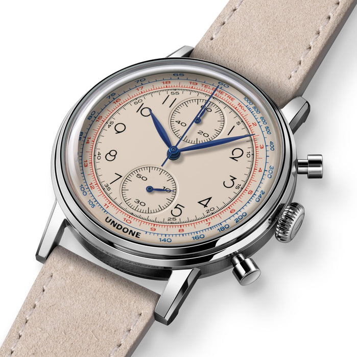 Undone Urban Vintage Killy Chronograph Silver angled shot picture