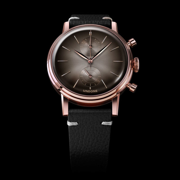 Undone Mystique Chrono Eclipse Grey Rose Gold angled shot picture