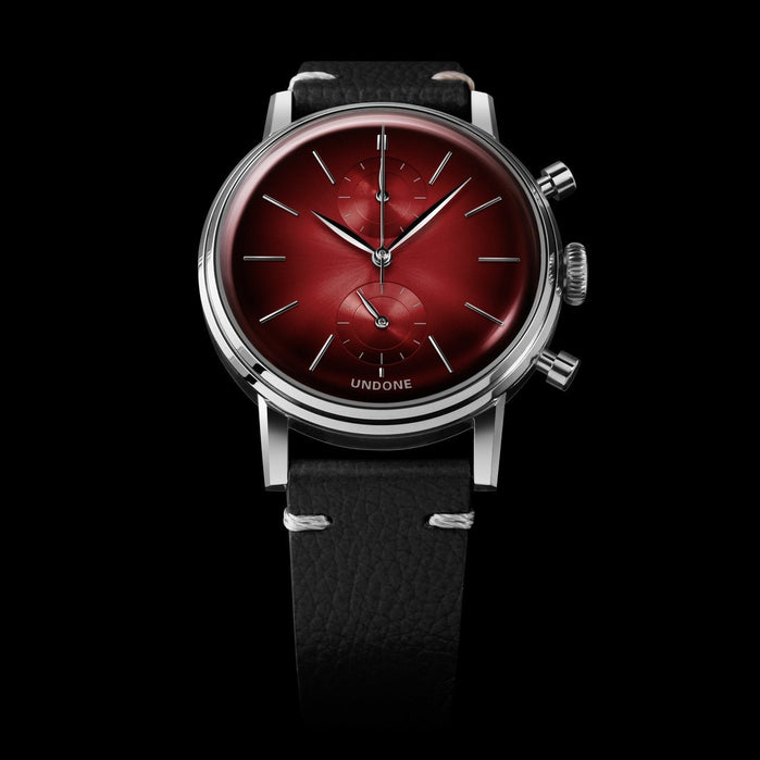 Undone Mystique Chrono Mars Red Silver angled shot picture