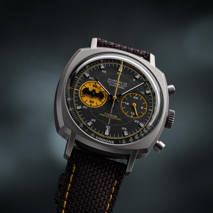 Undone Batman Chronograph Caped Crusader Limited Edition angled shot picture