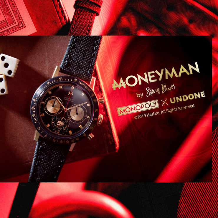 Undone Monopoly Moneyman Chronograph The Godfather Gold Black Limited Edition