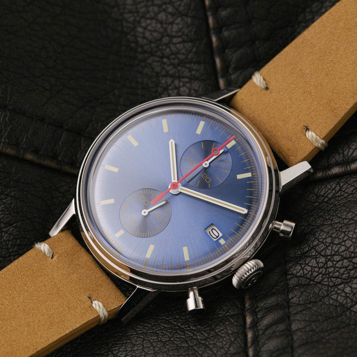 Undone Watches.com Exclusive Urban Classic Sunray Blue angled shot picture