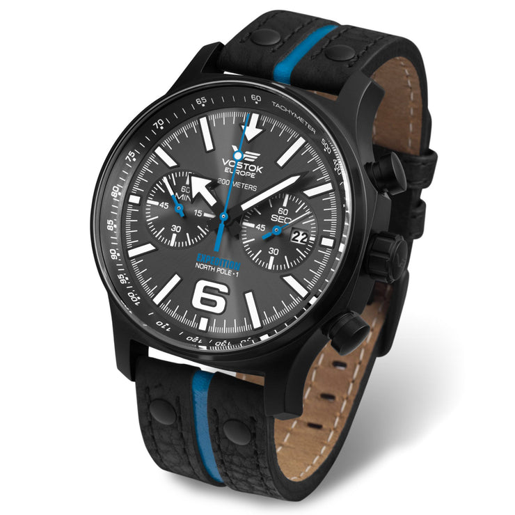 Vostok-Europe Expedition North Pole Chrono Black Blue