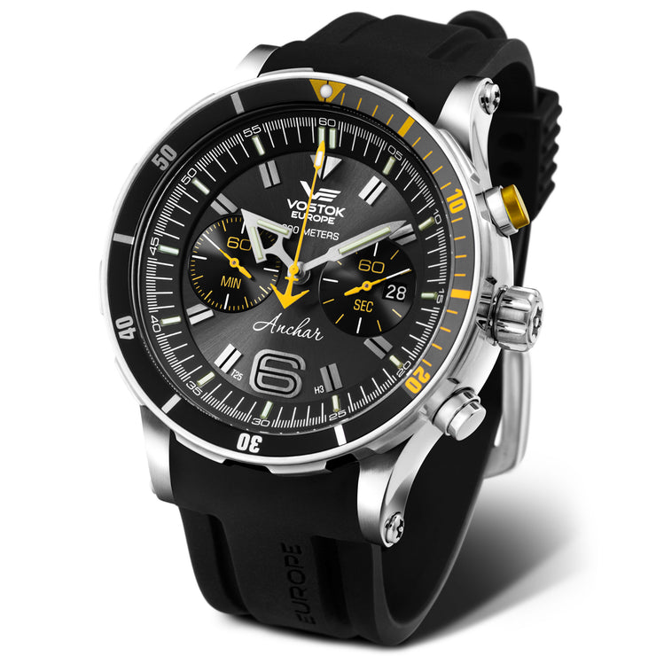Vostok-Europe Anchar Chrono Limited Edition Silver Black