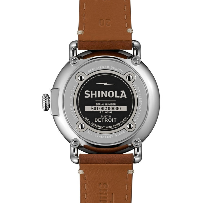 Shinola Runwell 41mm Brown Leather angled shot picture