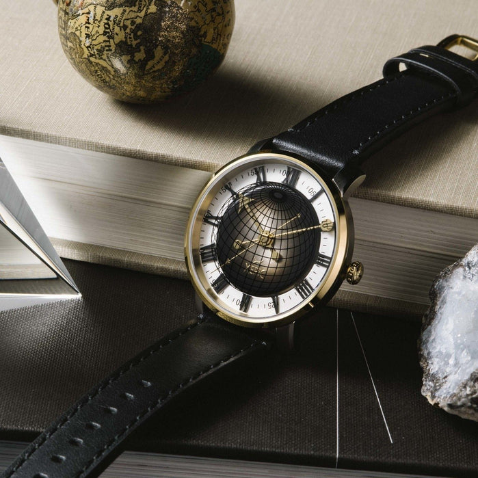 Xeric Atlasphere Automatic Gold Limited Edition angled shot picture