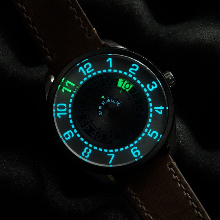 Xeric Cypher Automatic Tritium Silver Green Limited Edition