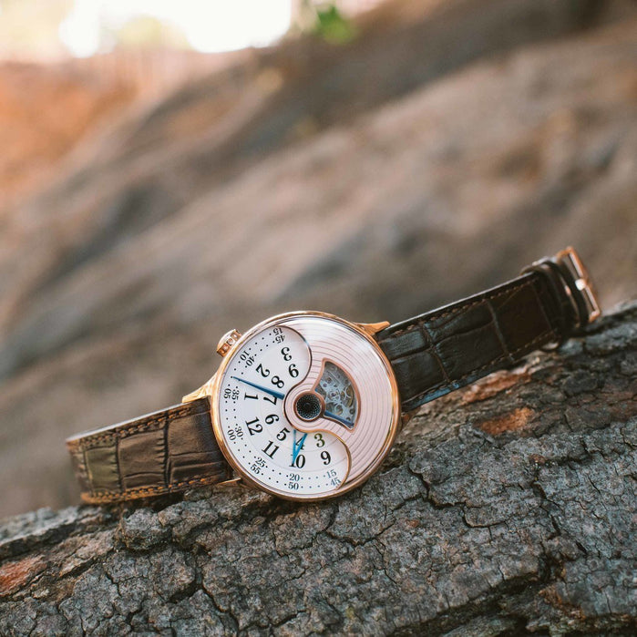 Xeric Evergraph Automatic Limited Edition Rose Gold angled shot picture