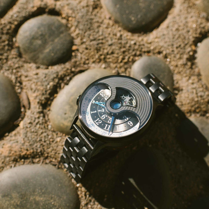 Xeric Evergraph Automatic SS Limited Edition Gunmetal angled shot picture