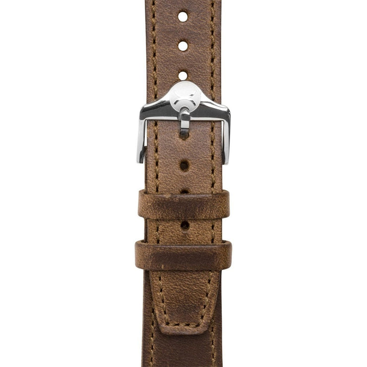 Xeric 20mm Horween Full Stitched Brown Leather Strap