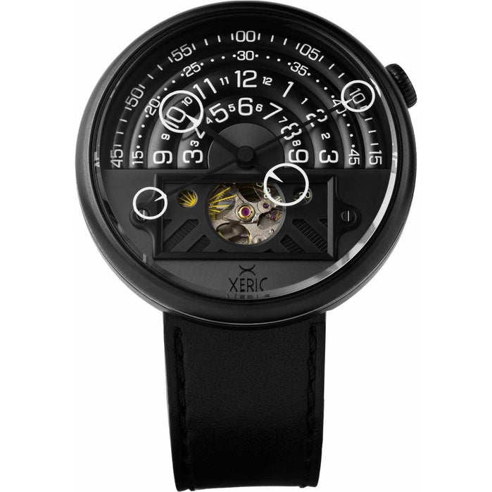 Xeric Halograph II Automatic All Black Limited Edition angled shot picture