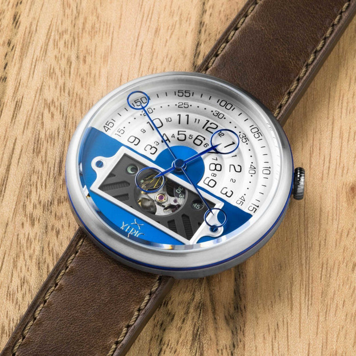 Xeric Halograph II Automatic Blue Brown Limited Edition angled shot picture
