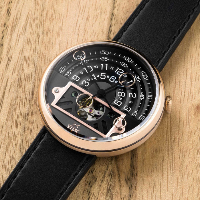 Xeric Halograph II Automatic Rose Gold Limited Edition angled shot picture
