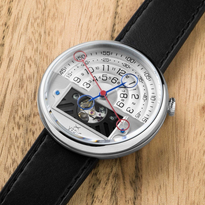 Xeric Halograph II Automatic Silver Limited Edition angled shot picture