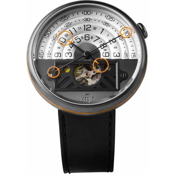 Xeric Halograph II Automatic Gunmetal Orange Limited Edition