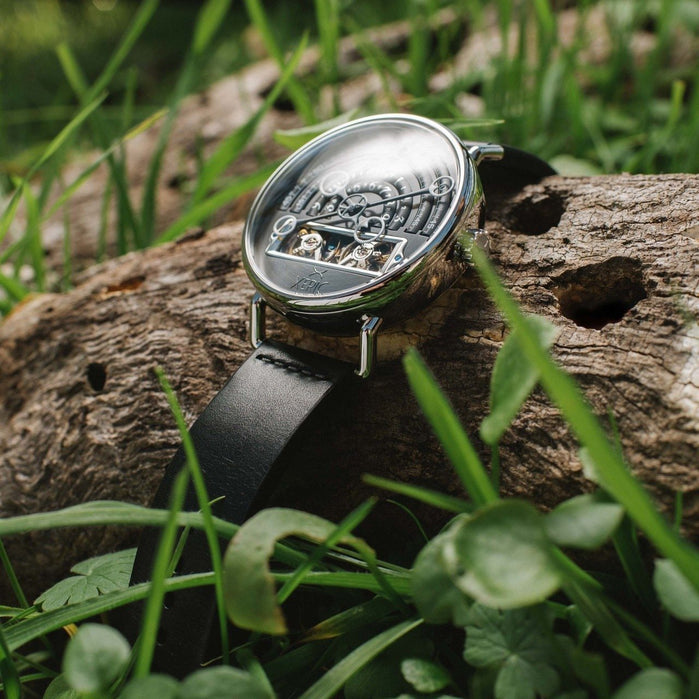 Xeric Black/Silver Halograph Automatic Limited Edition angled shot picture