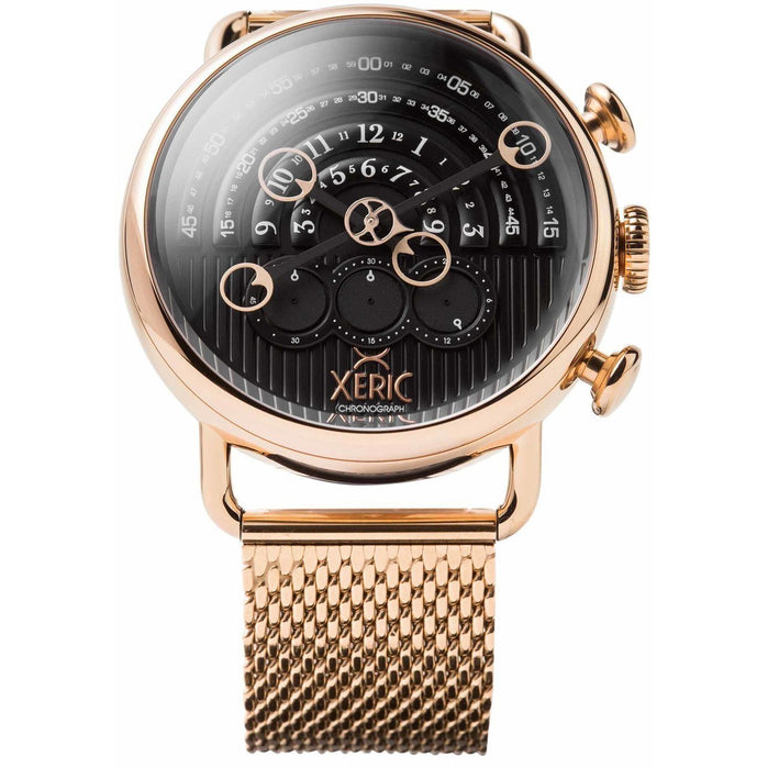Xeric Halograph Chrono Sapphire Mesh Rose Gold Black angled shot picture