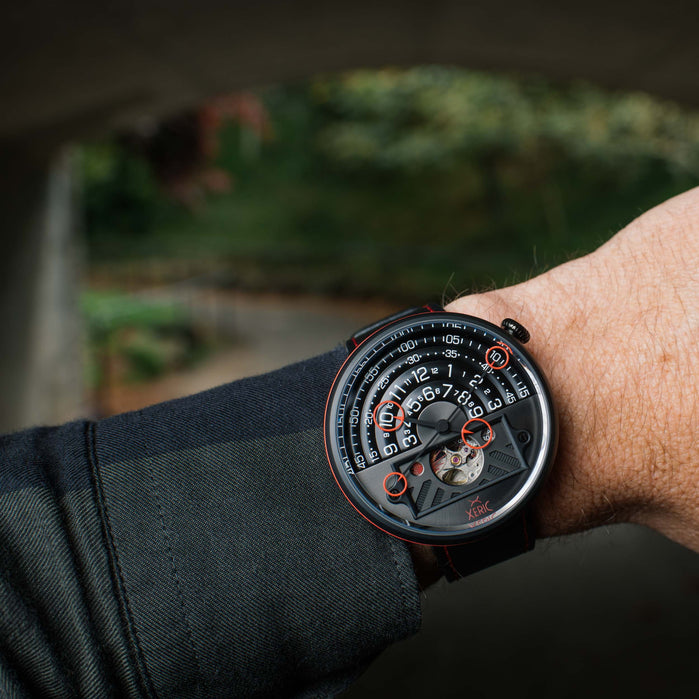 Xeric Halograph II Automatic Blood Moon Limited Edition angled shot picture