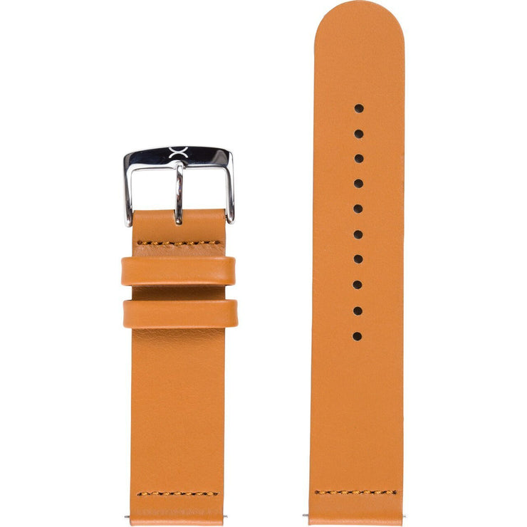 Xeric 22mm Smooth Tan Leather Strap