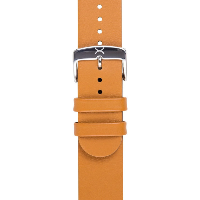 Xeric 22mm Smooth Tan Leather Strap angled shot picture
