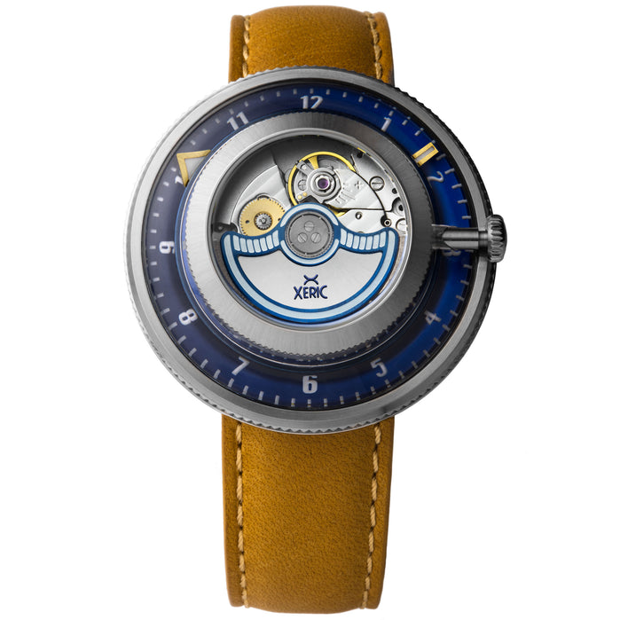 Xeric Invertor Automatic Navy Tan Limited Edition angled shot picture