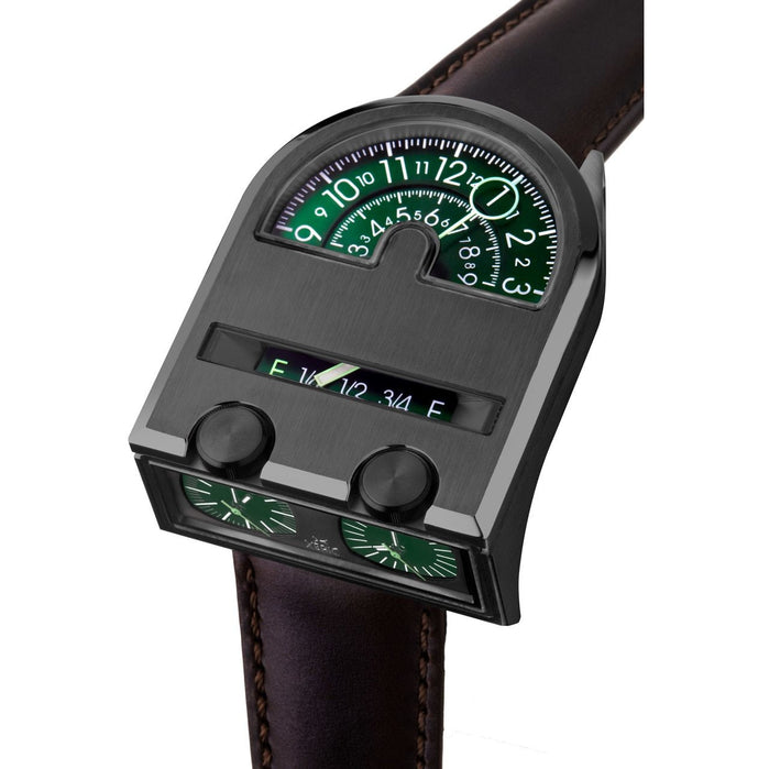 Xeric Leadfoot Automatic Gunmetal Green Limited Edition angled shot picture
