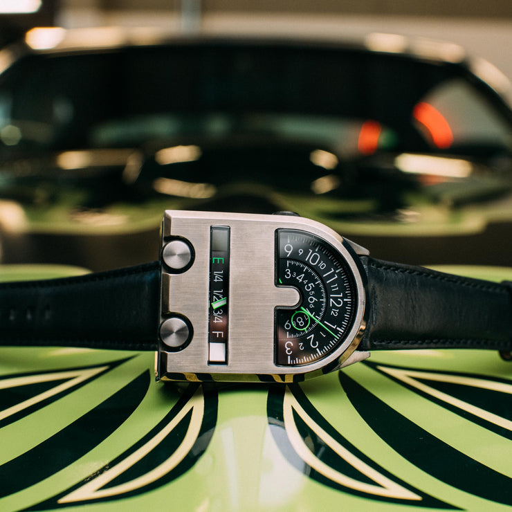 Xeric Leadfoot Automatic Gunmetal Lime Limited Edition