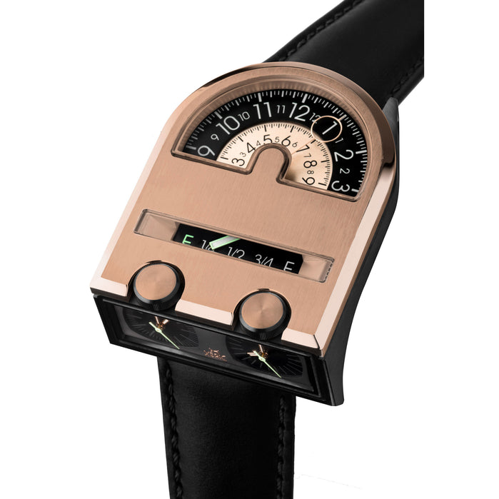 Xeric Leadfoot Automatic Rose Gold Limited Edition angled shot picture
