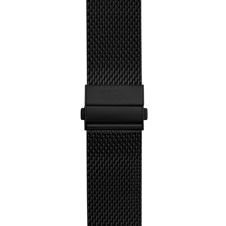 Xeric 20mm Black PVD Mesh Bracelet with Deployant Clasp
