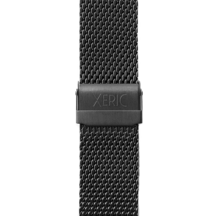 Xeric 22mm Black PVD Mesh Strap angled shot picture
