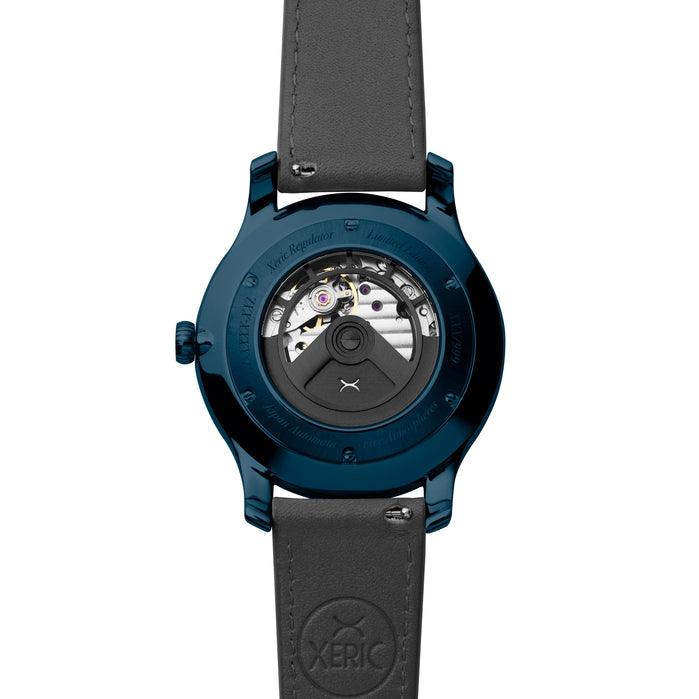 Xeric Regulator Automatic Blue Slate angled shot picture