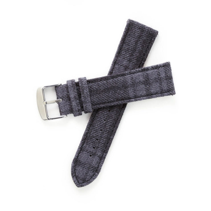 Xeric Savile Row 20mm Alpaca Charcoal Tartan