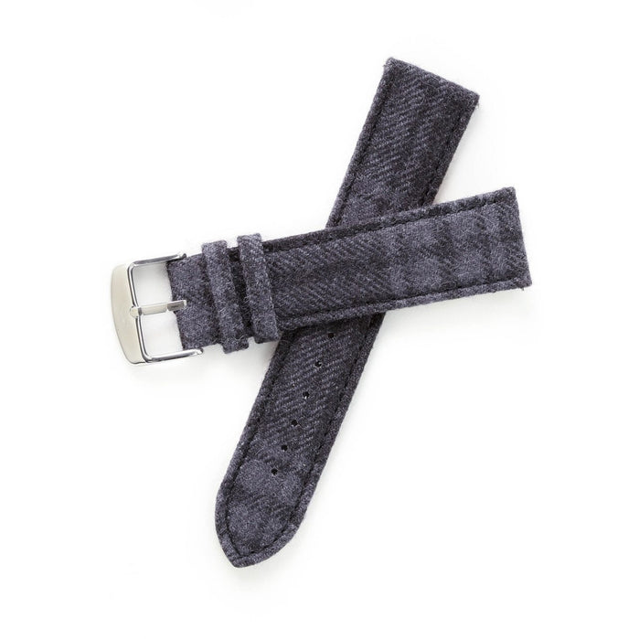 Xeric Savile Row 24mm Alpaca Charcoal Tartan angled shot picture