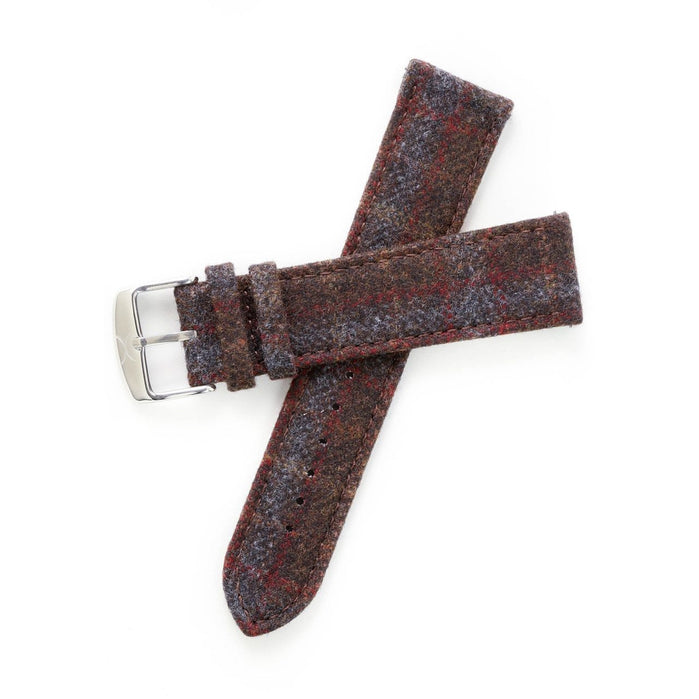 Xeric Savile Row 24mm Chestnut Red Tartan angled shot picture