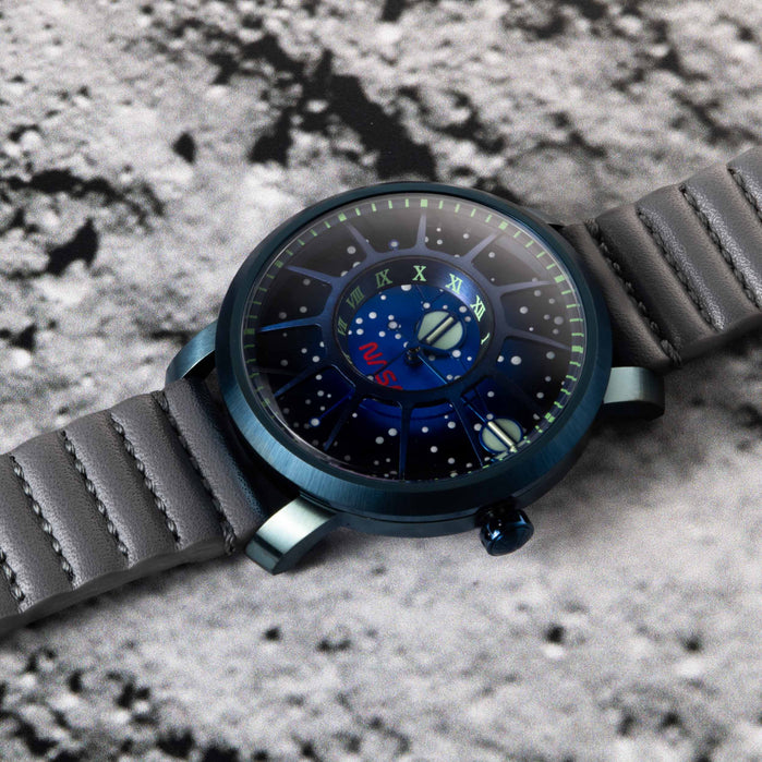 Xeric Trappist-1 Automatic NASA Edition Blue Supernova angled shot picture