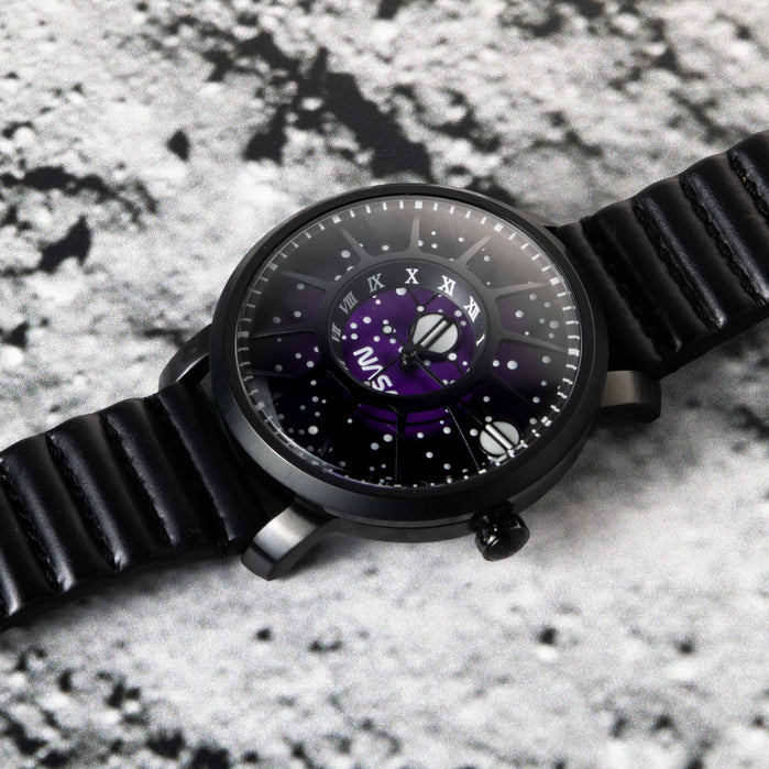 Xeric Trappist-1 Automatic NASA Edition Deep Space Purple angled shot picture