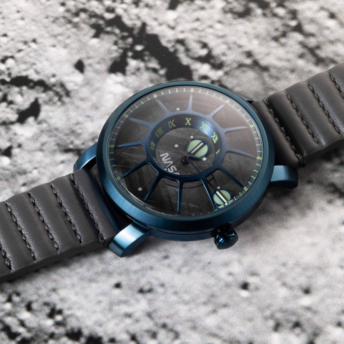 Xeric Trappist-1 Automatic NASA Edition Meteorite Blue Supernova angled shot picture