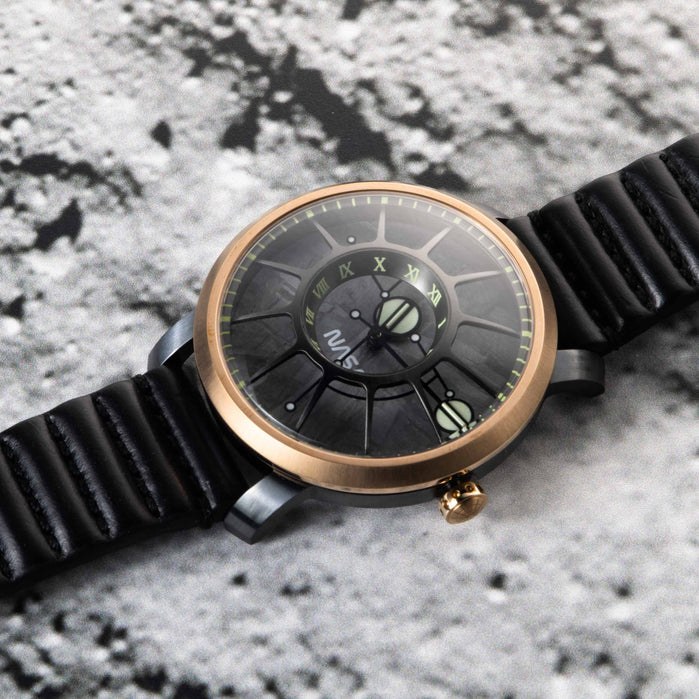 Xeric Trappist-1 Automatic NASA Edition Meteorite Lunar Module angled shot picture