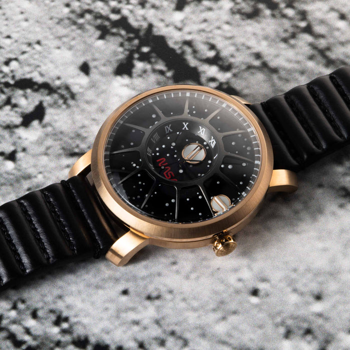 Xeric Trappist-1 Automatic NASA Edition The Eagle angled shot picture