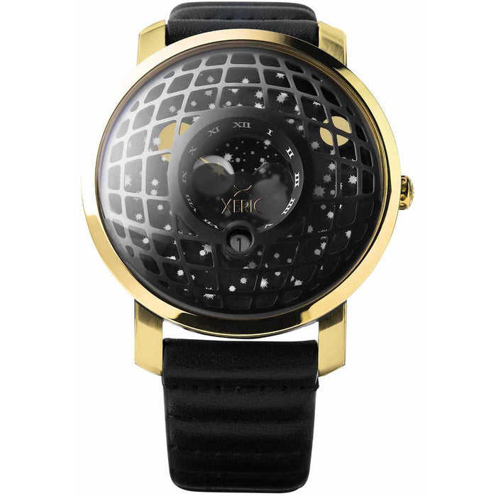 Xeric Trappist-1 Moonphase Gold Black angled shot picture