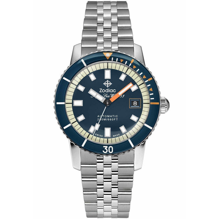 Zodiac Super Sea Wolf SS Automatic Silver Blue