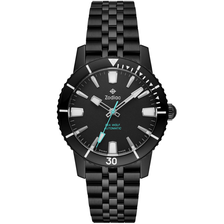 Zodiac ZO9276 Super Sea Wolf 53 Compression Automatic Black