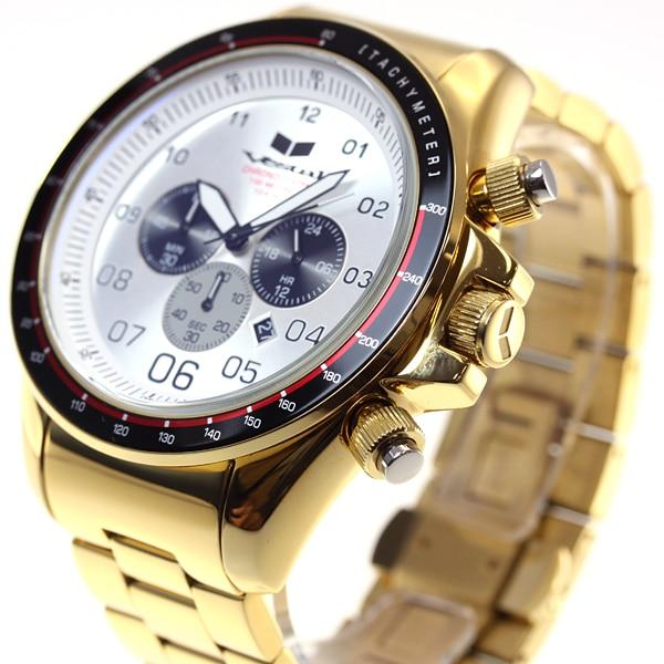 Vestal ZR3 Chronograph ZR3031 Gold/White angled shot picture