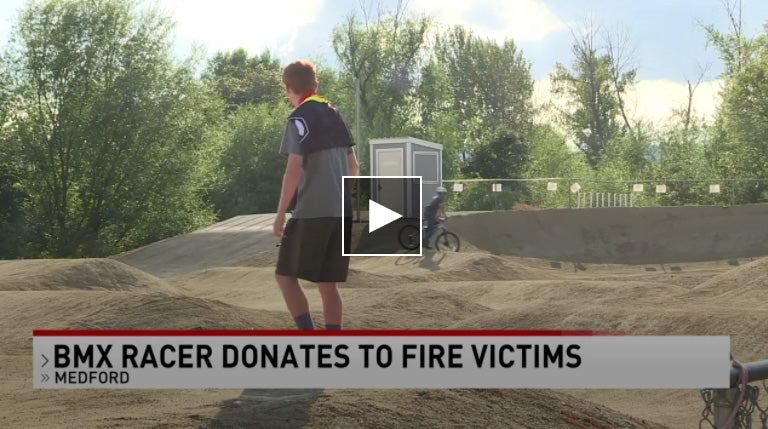 Austin Bangs BMX Donates to Fire Victims