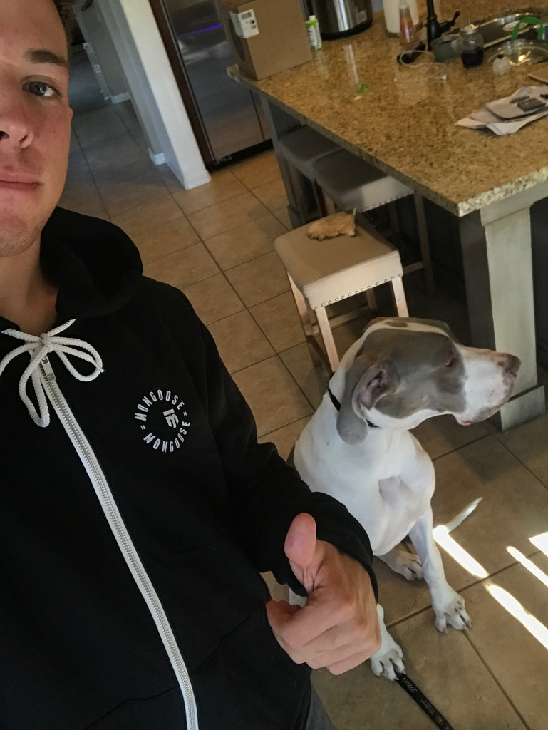 Cam Wood and his pup