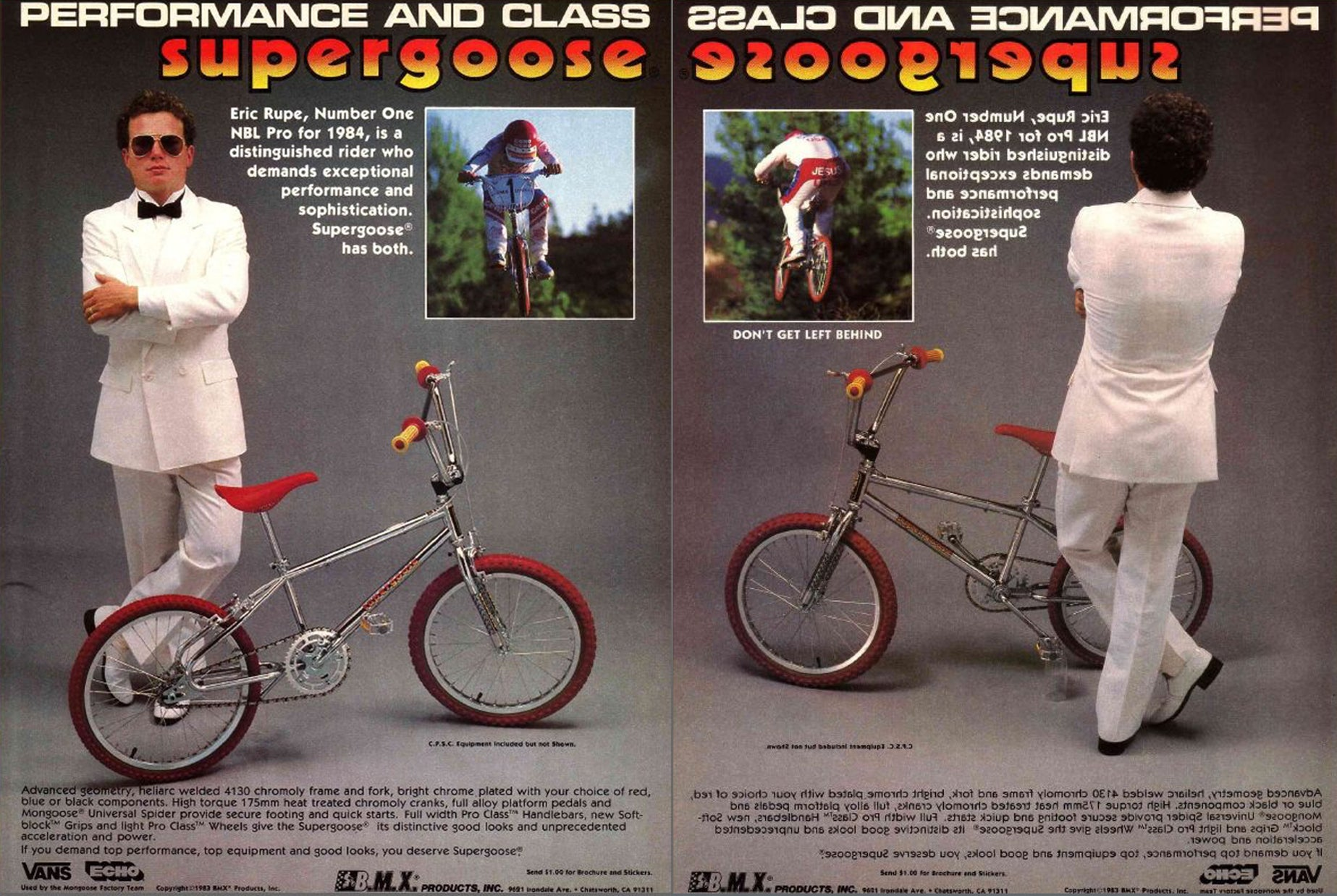 Eric Rupe 80s Mongoose Performance Ad