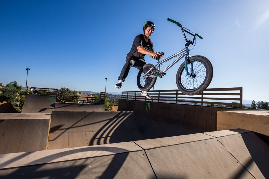 Pat Casey on the Legion L500 freestyle BMX bike