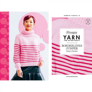 BOOKS AND BOOKLETS:  Scheepjes Yarn The after Party 128 Booklet: BORDERLINES JUMPER